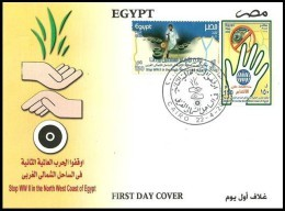 Egypt 2008 First Day Cover FDC Stop World War WW II In The West Cost  Of Egypt - Egypte - Egypt