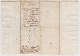 1741 - Lettera Manoscritta Sulla Cessione Di Alcuni Terreni (Luogo: Sardegna, Lingua: Spagnolo). - Manoscritti