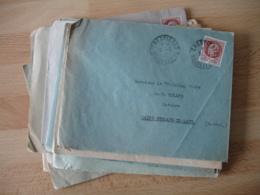 Lot De 20  Lettre Annee 40 Cachet A 4 Sur Timbre êtain - Marcophilie (Lettres)