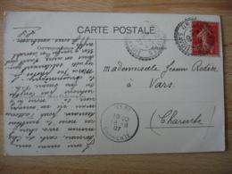 Argentieres Cachet Perle Facteur Boitier Obliteration Sur Lettre - Marcophilie (Lettres)