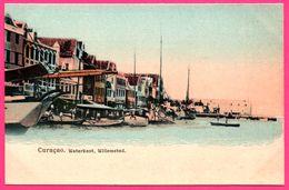Curaçao - Waterkant - Willemstad - Voilier - Bateau - Animée - Colorisée - Curaçao