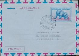 BURUNDI AIR LETTER STIBBE 2 USED FROM BUJUMBURA 1965 TO BRUSSELS - Burundi