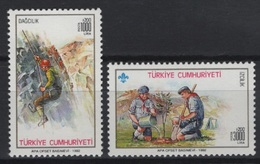 Turkey (1992) Yv. 2721/22  /  Boy Scouts - Scouting - Scout - Movimiento Scout