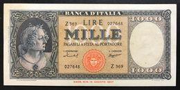 1000 Lire Italia Medusa 15 09 1959 Eccelente Biglietto SUP Spianato LOTTO 2150 - [ 2] 1946-… : République