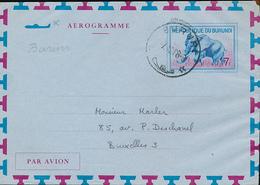BURUNDI AIR LETTER STIBBE 2 USED BURURU 1968 - Burundi