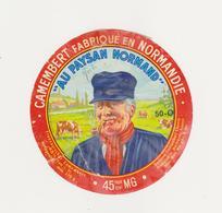 ETIQUETTE DE CAMEMBERT  CLAUDEL PONT HEBERT MANCHE 50 O - Cheese