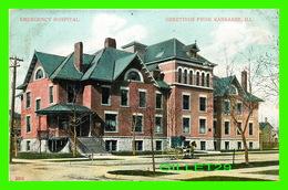 KANKAKEE, IL - EMERGENCY HOSPITAL - ANIMATED - TRAVEL IN 1907 -  A. C. BOSSELMAN & CO - - Etats-Unis
