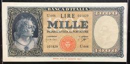 ITALIA 1000 Lire Italia Medusa 25 09 1961 Sup  LOTTO 2148 - [ 2] 1946-… : République