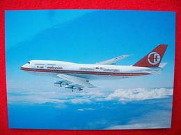 CARTOLINA AEREO BOEING 747-3H6 -MALAYSIAN - 1946-....: Modern Era