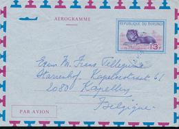 BURUNDI AIR LETTER STIBBE 3 USED FROM BUJUMBURA 1973 - Burundi