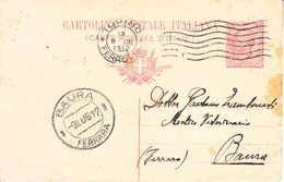 ITALIA - Arrivata A BAURA (ferrara) - Cartolina Postale Del 1912 - 2019-114 - Ferrara