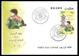 EGYPT 2006 FDC / FIRST DAY COVER ORPHAN DAY - Egypt
