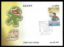 EGYPT 2010 FDC / FIRST DAY COVER ORPHAN DAY - Egypt