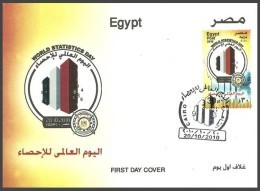 EGYPT 2010 FDC / FIRST DAY COVER WORLD STATISTICS DAY - Egypt