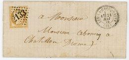 DROME LAC 1875 LUS LA CROIX HAUTE GC + T22 LOCALE DISTRIBUTION VERS SA DIRECTION CHATILLON  IND 16 COTE 190 EUROS - Marcophilie (Lettres)