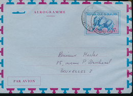 BURUNDI AIR LETTER STIBBE 2 USED FROM BUJUMBURA 1971 - Burundi