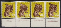 Lièvre ** / Feldhase / Lèpre / Lupus Europaeus / Pro Juv. 218 / 1966 - Unused Stamps