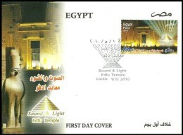 EGYPT 2010 FDC / FIRST DAY COVER SOUND AND LIGHT EDFU TEMPLE - UPPER EGYPT - Egypt