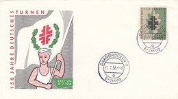 GOOD SAARLAND FDC 1958 - Gymnastic - FDC