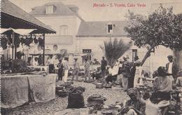 CAP VERT / CABO VERDE - S. VIÇENTE : MERCADO / MARCHÉ / MARKET - ANNÉE / YEAR ~ 1910 - '12 (aa365) - Cap Vert