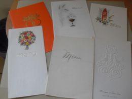 6 Menus 1976 Mariage 1973 Mariage 1967 1961 Cokerie De Carling 1977 Mariage ++ - Menus