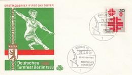 GOOD BERLIN FDC 1968 - Gymnastic - FDC: Sobres
