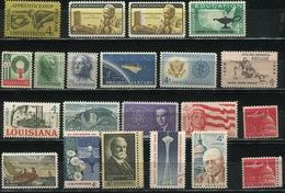 USA - 1962 Lot Of 21 Stamps MNH** - USA62 - Stati Uniti