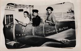 19 : LUBERSAC Carte Photo Fantaisie , Avion Lubersac à New York - Altri Comuni