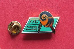 Pin's,Sports,Tennis De Table,TTC KANTONALE VERWALTUNG, Suisse - Table Tennis