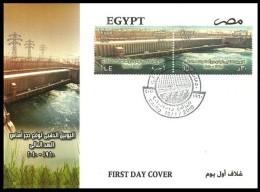 EGYPT 2010 FDC / FIRST DAY COVER 50 YEARS GOLDEN JUBILEE HIGH DAM 1960 - 2010 - Egypt