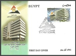 EGYPT 2010 FDC / FIRST DAY COVER Silver Jubilee Information Center & Decision Support 1985 - 2010 - Egypt