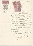 Oblitération Postale Sur Fiscaux - Attestation Médicale Beauvais Sur Matha - Fiscali