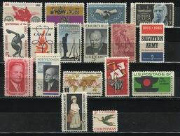 USA - 1965 Lot Of 17 Stamps MNH** - USA65 - Stati Uniti