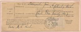 Oblitération Postale Sur Fiscaux - Etiquette De Contrôle Ste Colombres Sur L'Hers - Fiscaux