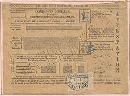 Oblitération Postale Sur Fiscaux - Etiquette De Contrôle - Fiscaux