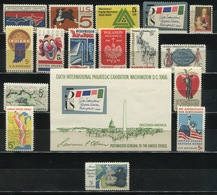 USA - 1966 Lot Of 17 Stamps MNH** - USA66 - Stati Uniti