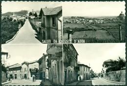 CARTOLINA  - CV1249 CALUSCO D'ADDA (Bergamo BG) Saluti Da, Con 4 Vedutine, FG, Non Viaggiata, Ottime Condizioni - Bergamo