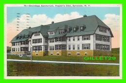 SYRACUSE, NY - ONONDAGA SANITORIUM, HOPPER'S GLEN - TRAVEL IN 1931 PUB. BY Wm JUBB XO INC - - - Syracuse