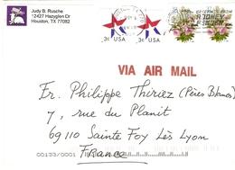 Etats-Unis 2005 - Air Mail - Houston/Texas à Sainte Foy Lès Lyon/France - Robot Flamme Greetings From Rodney And Fender - Etats-Unis