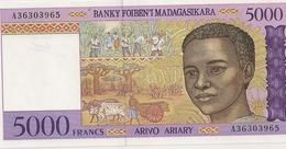 BILLET DE 5000 FRS - Madagascar