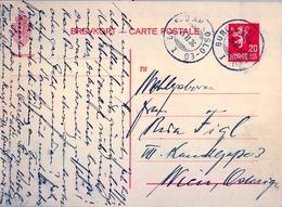 1936 , NORUEGA , ENTERO POSTAL CIRCULADO , OSLO - VIENA - Enteros Postales