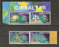 Gibraltar 1994 - Europa Découvertes - Série Complète MNH - 692/95 - Paires Se Tenant BDF - Curie - Diesel - Galilée - Gibraltar