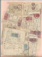 Oblitération Postale Sur Fiscaux - 13 Reçus D'abonnement Téléphonique Ste Colombres Sur L'Hers - Fiscaux