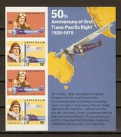 Australie 1978 - 50th Anniversary Of First Trans-pacific Flight 1928/78 - BF 5 MNH/ND - Aviation - Premiers Aviateurs - 1966-79 Elizabeth II