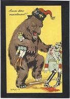 CPA Ours Kaiser Satirique Caricature Guerre 14-18 Patriotique Germany Allemagne Non Circulé Autriche - Weltkrieg 1914-18