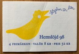 Carnet Suède 1998 Oblitéré - Carnets