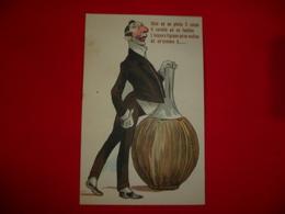 Cartolina Umoristica Date Ad Un Pilota Il Casco Il Cavallo Ad Un Fantino L'acqua E Il Grano Ad Un Mulino Ad Un'oratore - Humor
