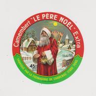 étiquette De Fromage:   Camembert  :  Le  Forgeron , Fromageries  De  Chadenac , Charente  Maritime ,le Père Noël Pons - Fromage