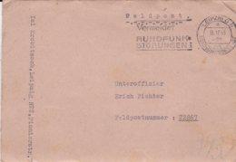 German Feldpost WW2: To Newel - Stab Panzerjäger-Abteilung 5 FP 22867 P/m Leipzig Reichmessestadt 18.11.1943 - Militaria