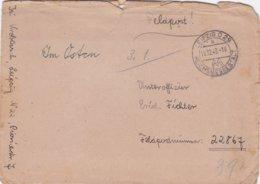 German Feldpost WW2: To Polozk In Belarussia - Stab Panzerjäger-Abteilung 5 FP 22867 P/m Leipzig Reichmessestadt - Militaria